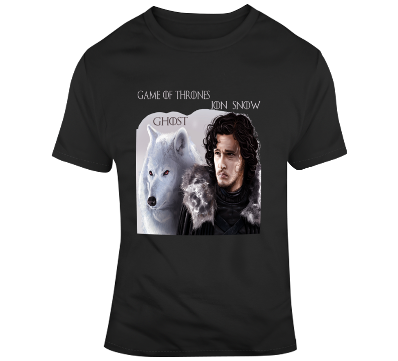 Jon Snow And Ghost  T Shirt