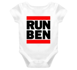RUN BEN RETRO HIP HOP RAP BABY ONE PIECE T SHIRT