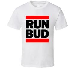 RUN BUD RETRO HIP HOP RAP CLASSIC  T SHIRT