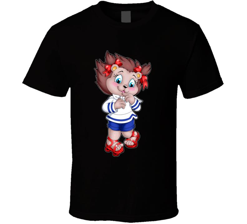 Get A Long Gang Retro 80s Portia Porcupine Cartoon T Shirt
