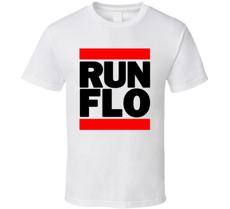 RUN FLO RETRO RAP HIP HOP RUNNING RUNNER T SHIRT