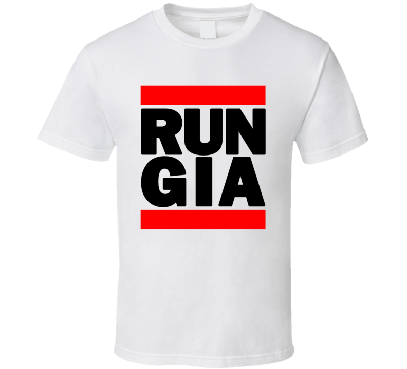RUN GIA RETRO RAP HIP HOP RUNNING RUNNER T SHIRT