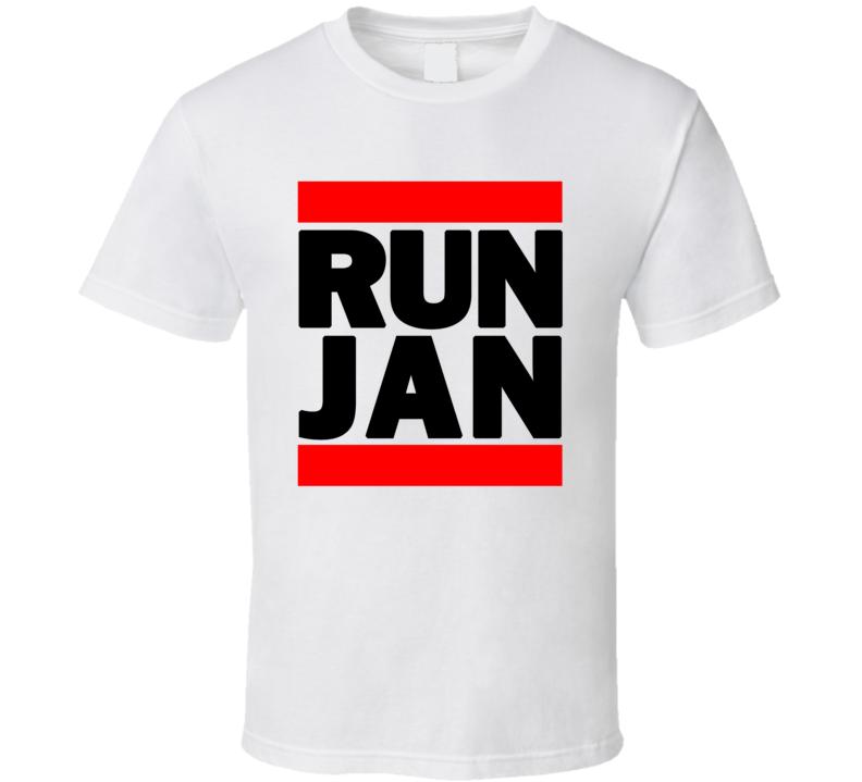 RUN JAN RETRO RAP HIP HOP RUNNING RUNNER T SHIRT