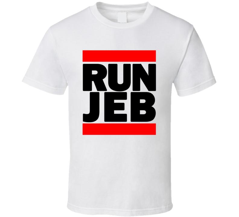 RUN JEB RETRO RAP HIP HOP RUNNING RUNNER T SHIRT