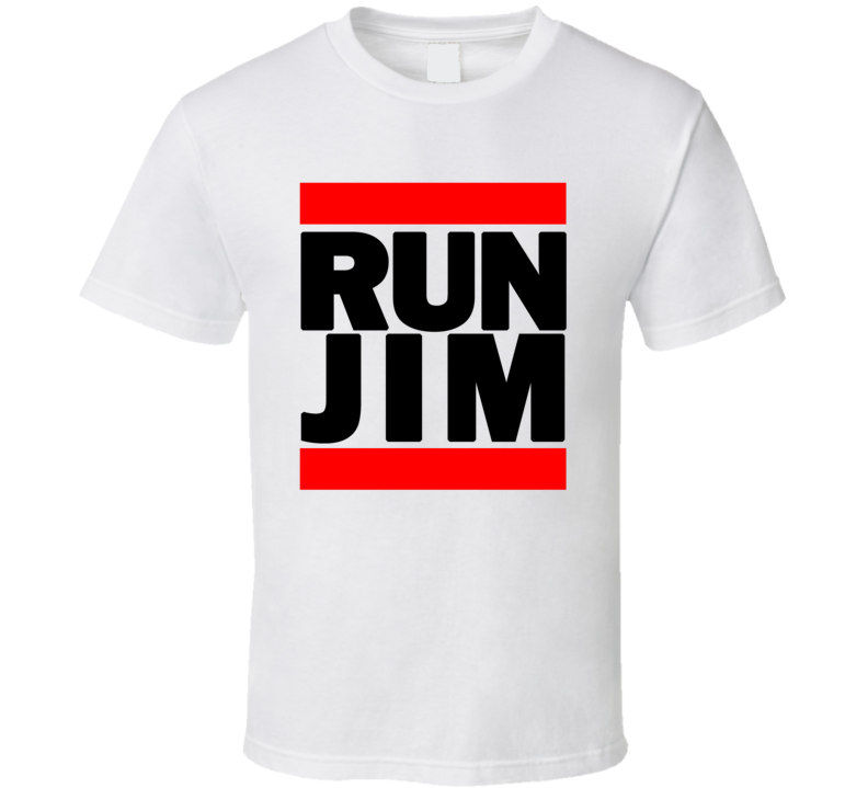 RUN JIM RETRO RAP HIP HOP RUNNING RUNNER T SHIRT