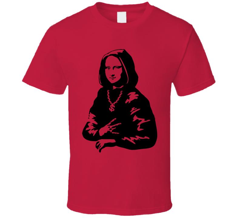 Ghetto Mona Lisa cool funny parody t shirt
