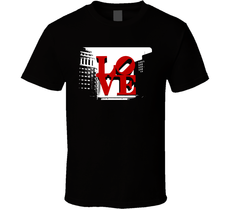 Philadelphia Love Park Cool Statue t shirt