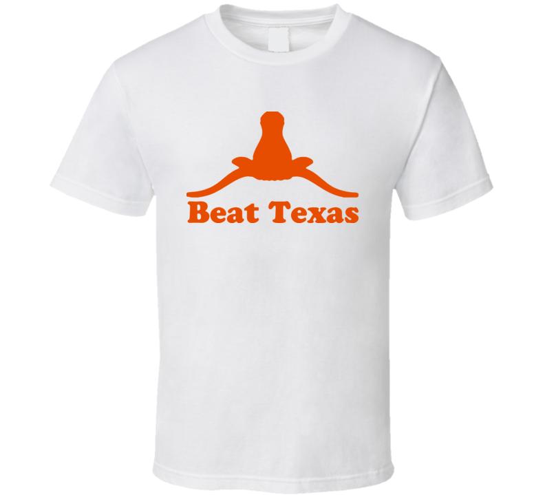 Upside Down Beat Texas Longhorn Logo t shirt