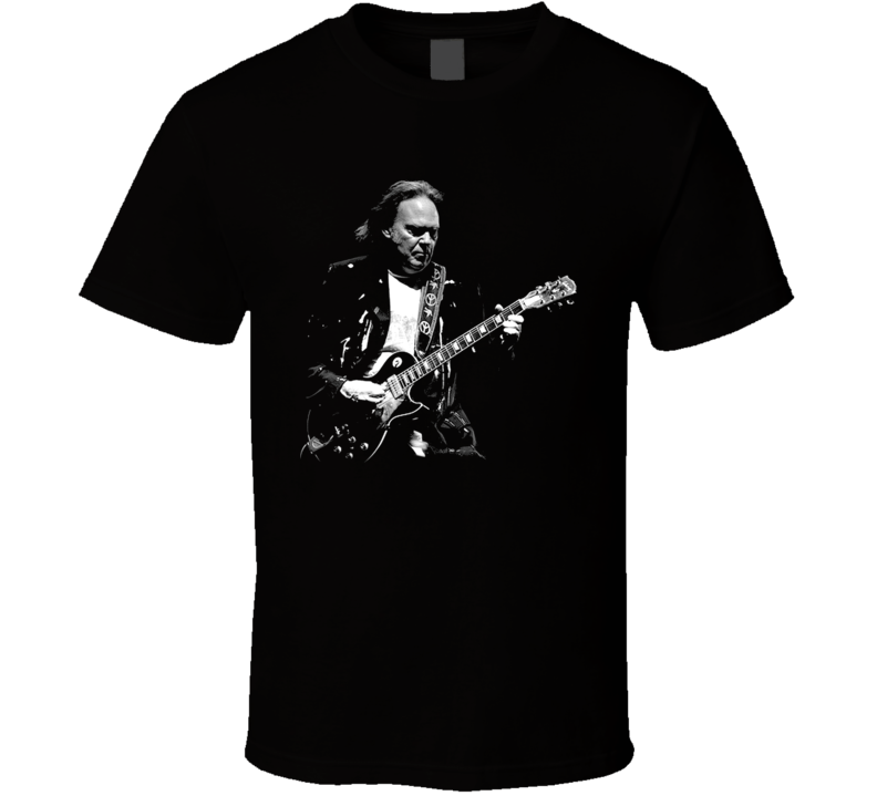 Neil Young Rock Folk Guitar Legend Music T Shirt