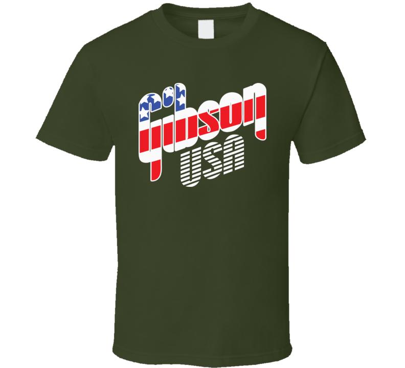 Gibson Usa Guitar Music T Shirt