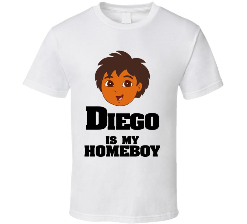 Diego Is My Homeboy Cartoon Dora Youth T Shirt