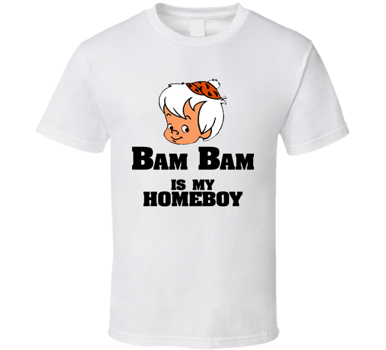 Bam Bam Is My Homeboy Cartoon Flintstones Youth T Shirt