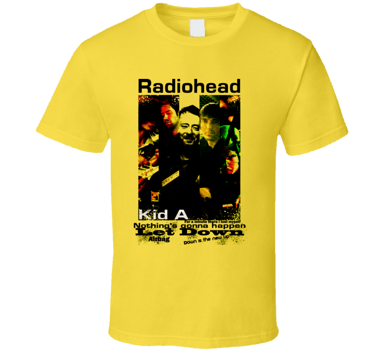 Radiohead Concert Poster Kid A Rare T Shirt