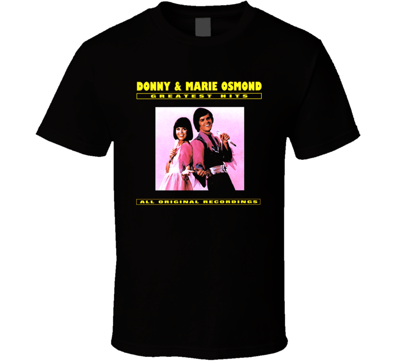 Donnie And Marie Osmond Retro Album Cover T Shirt
