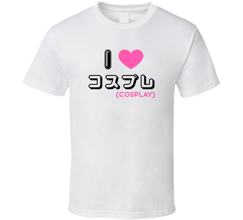 I Heart Love Cosplay Anime Costume T Shirt