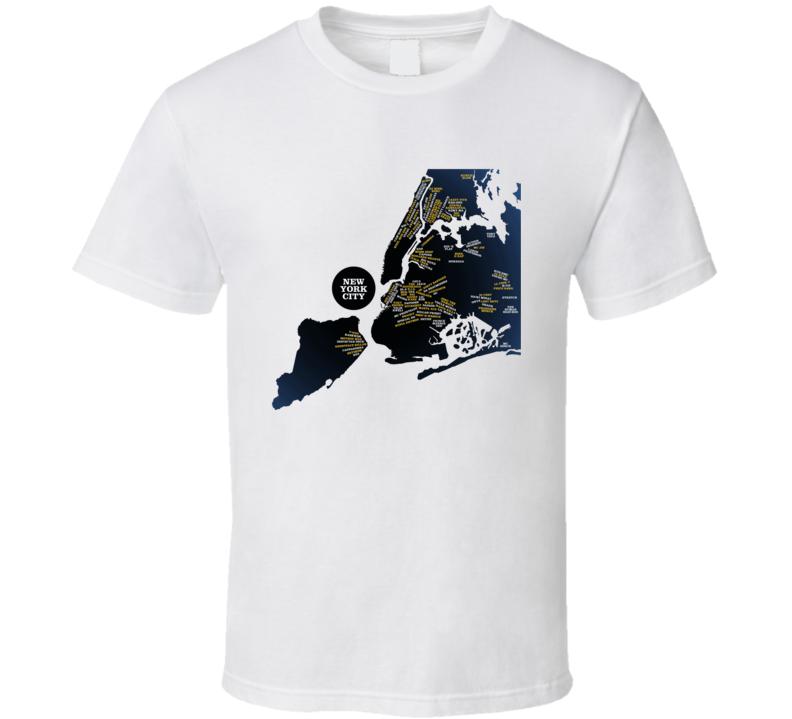 The Rap Map Hip Hop Artist Music Lover T Shirt