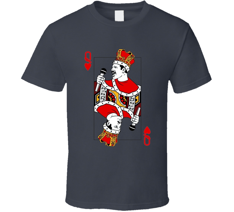 Freddy Mercury Queen of Hearts Song Movie T Shirt