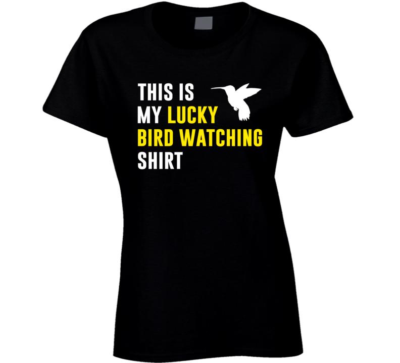 This Is My Lucky Bird Watching Birder Birding T Shirt