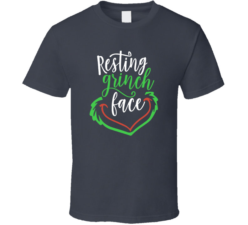 Resting Grinch Face Funny Christmas T Shirt
