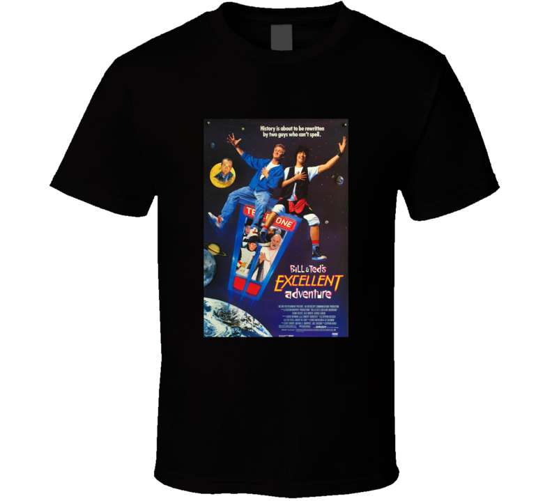 Bill & Ted Retro Movie Poster Excellent T Shirt