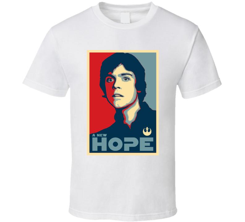 Hope Luke Skywalker Star Wars Legend trekkie T Shirt
