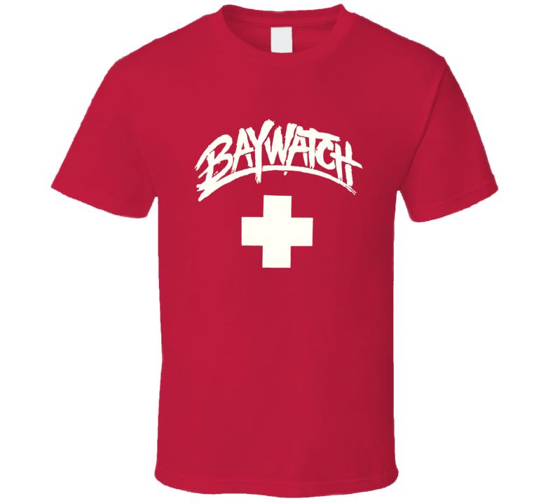 Baywatch Lifeguard Tv Show Swimming Swim Ocean Beach T Shirt