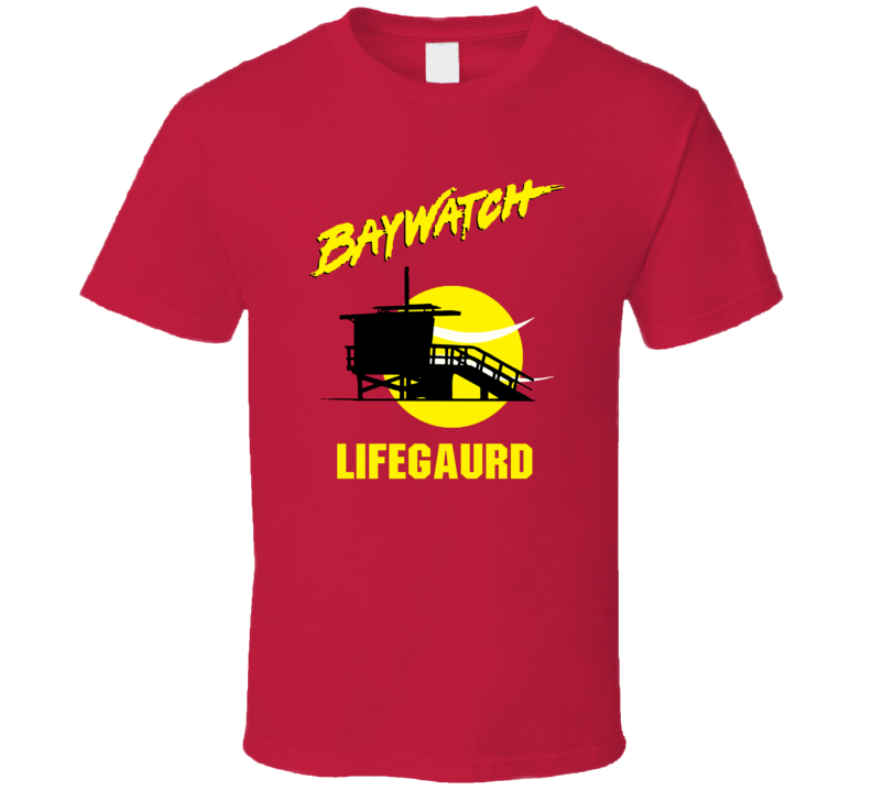 Beach Baywatch Tv Swim Lifeguard Swimming Summer T Shirt