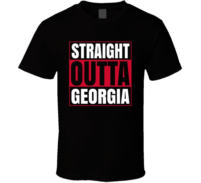 Straight Outta Georgia Uga University Grad Graduation T Shirt