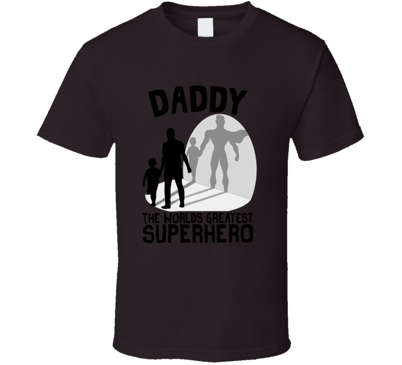 Daddy Superhero Father's Day Son Best Dad T Shirt