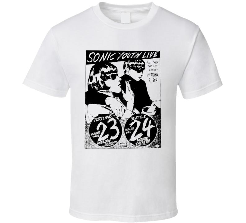 Sonic Youth Nirvana Portland Seattle Music Poster T Shirt