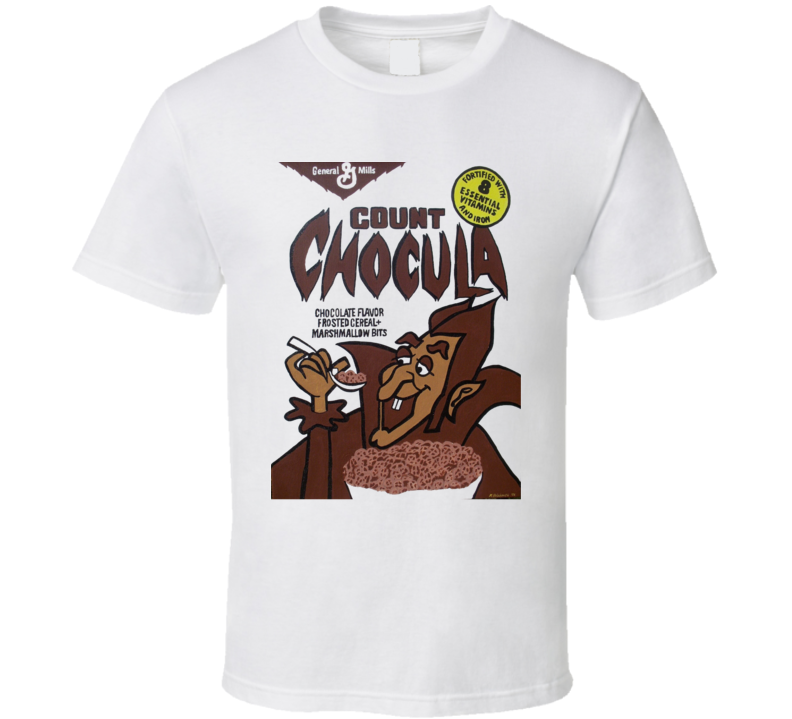 Count Chocula Cereal Halloween Chocolate Funny Retro T Shirt