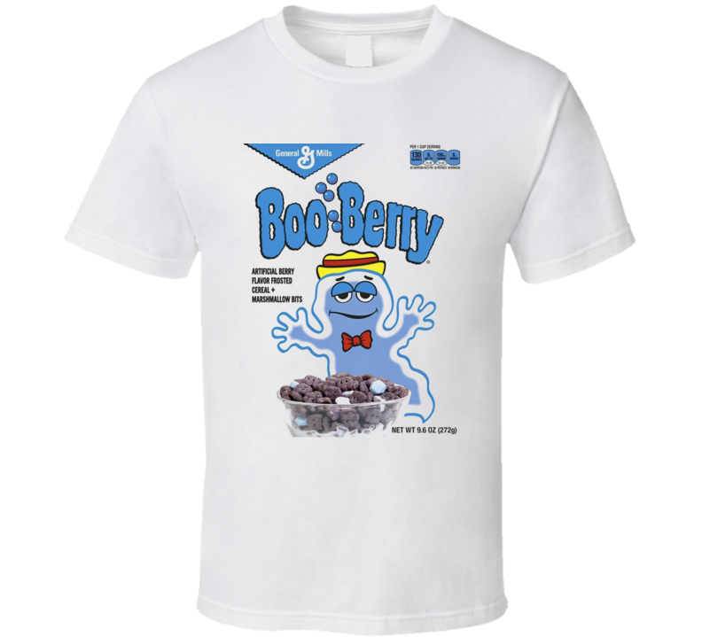 Boo Berry Halloween Ghost Cereal Retro Breakfast T Shirt
