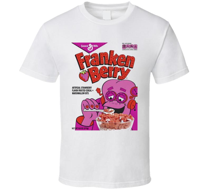 Franken Berry Cereal Halloween Breakfast Retro T Shirt