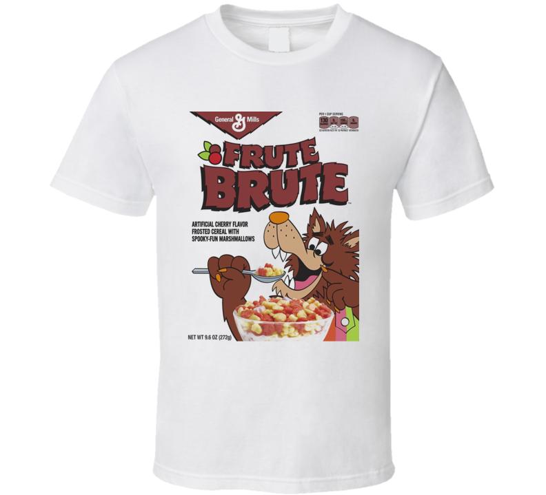 Frute Brute Funny Retro Cereal Halloween Breakfast T Shirt