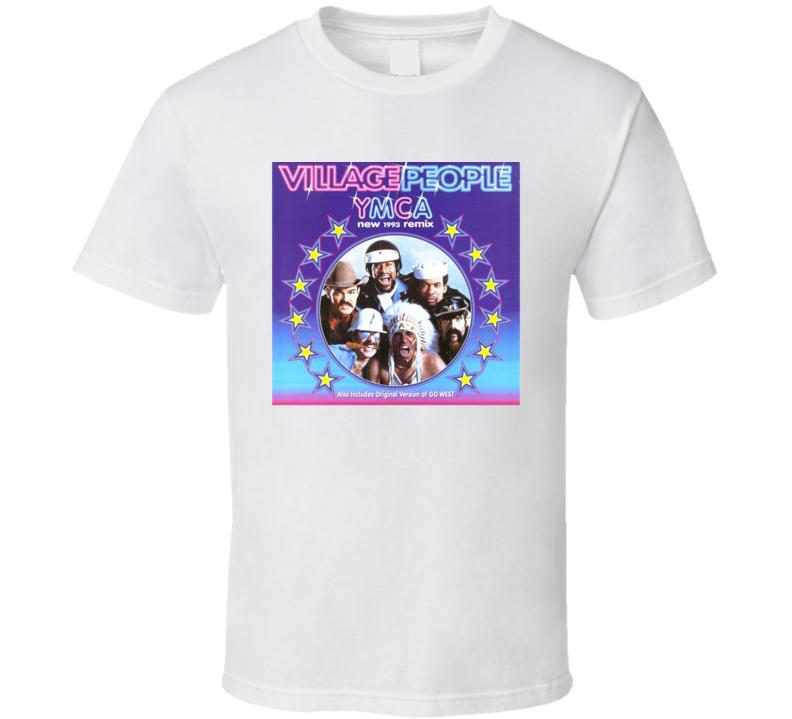Village People YMCA Original Single Cover Record Disco T Shirt