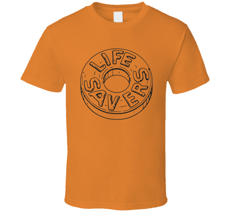 Lifesavers Orange Candy Group Halloween Costume Funny Office T Shirt