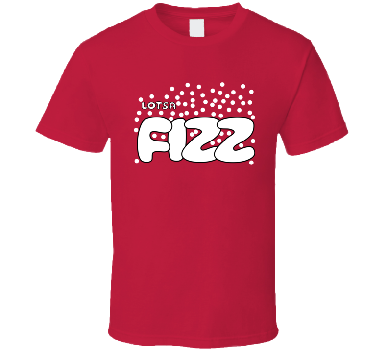 Lotsa Fizz Candy Retro Halloween Group Costume Red Funny T Shirt