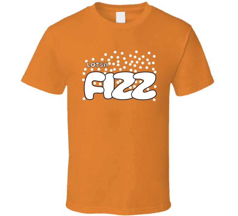 Lotsa Fizz Candy Retro Halloween Group Costume Orange Funny T Shirt