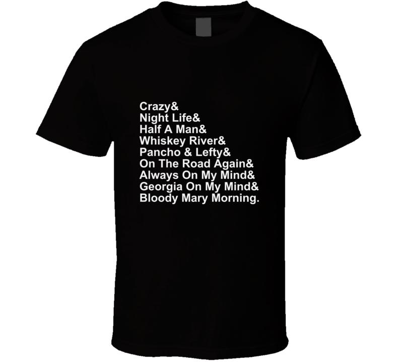 Willie Country Music Legend Song Musician Guitar T Shirt