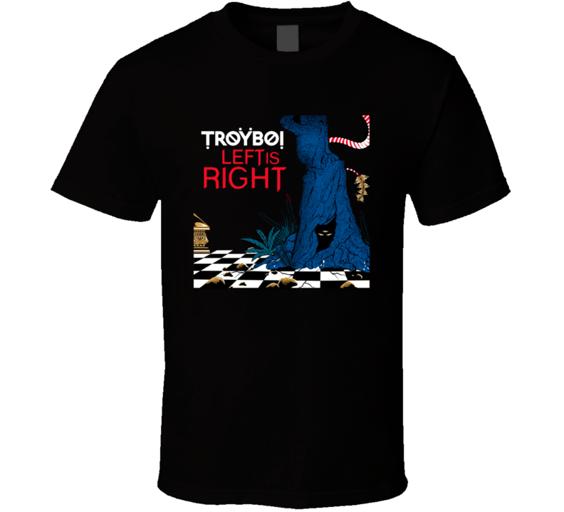 Troyboi Left is Right Electronic Music Cool Art T Shirt