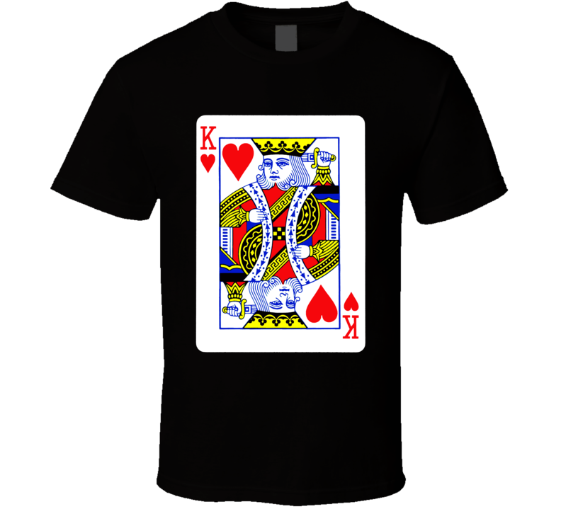 King Of Hearts Valentines Day Gift Love Romantic Husband Wedding Groom T Shirt