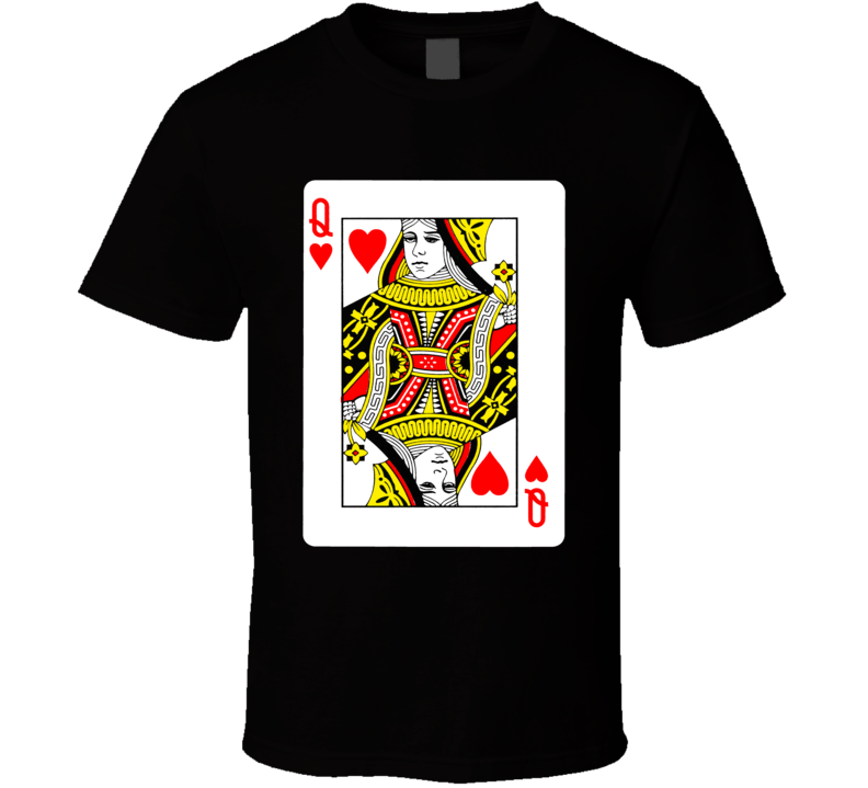 Queen Of Hearts Poker Valentine's Day Gift Wife Love Bride Wedding T Shirt