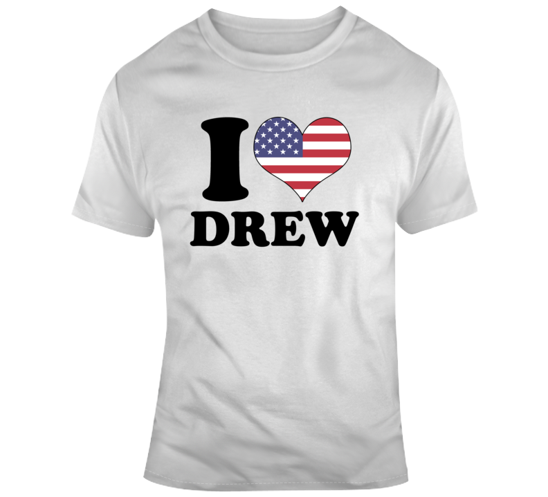 I Heart Drew Usa Pride Price Is Right Game Show Contestant T Shirt