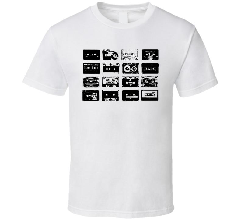 Cassette Tape Cool RETRO Music Lover 80s T Shirt