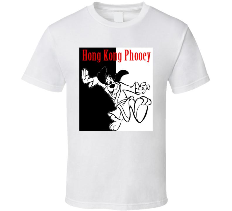 Hong Kong Phooey Cartoon RETRO Martial Arts T Shirt