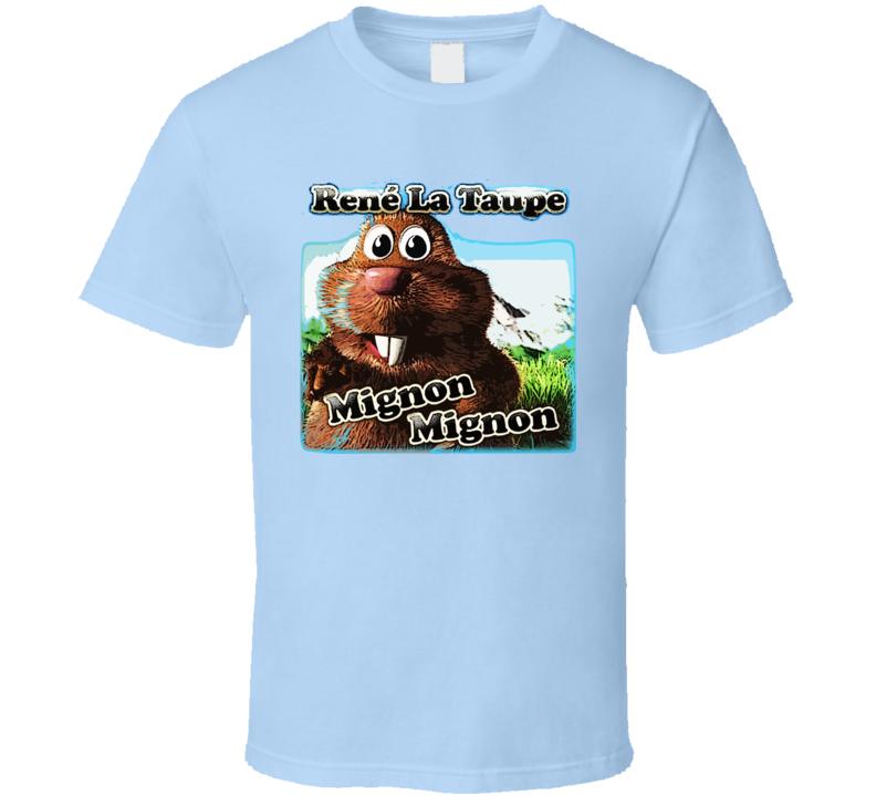 Rene La Taupe Mignon Mignon Music Cute  T Shirt