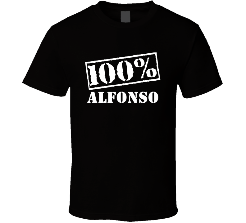 Alfonso 100 Percent Name T Shirt
