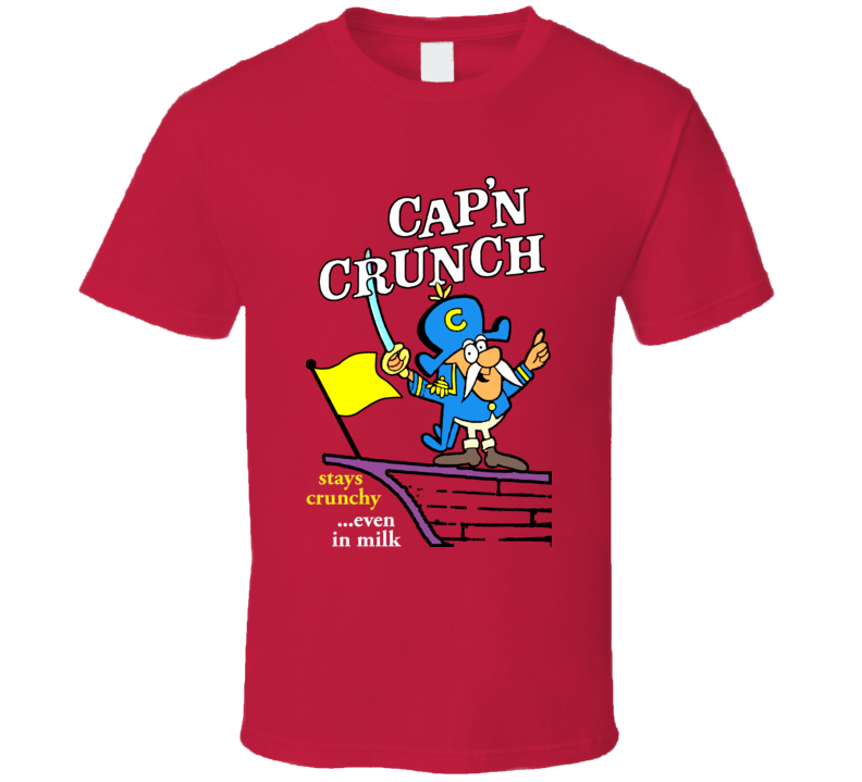 Capn Crunch Captain Retro Cereal Box T Shirt