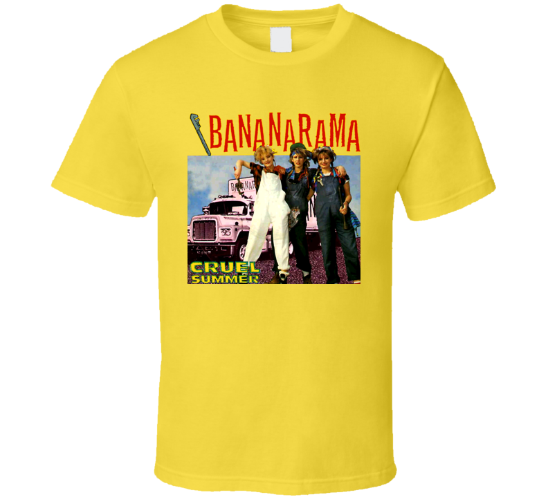 Bananarama Retro Cruel Summer Music Band T Shirt