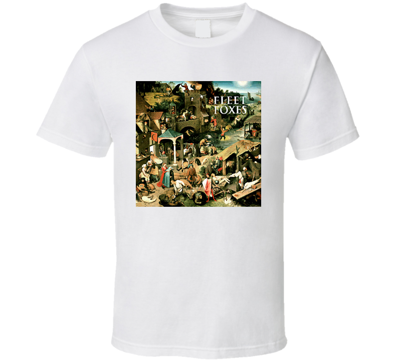 Fleet Foxes Folk Music Band Cool Album T Shirt